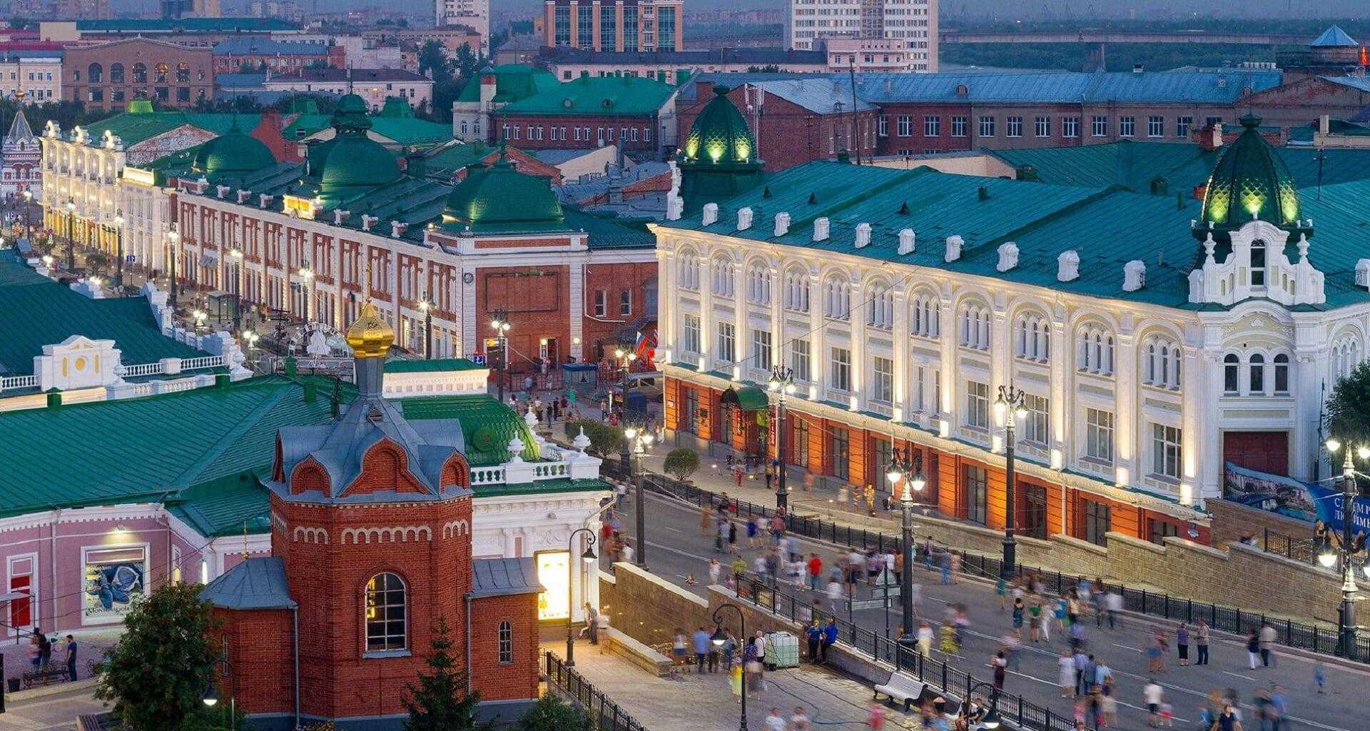 Фото вид на город Омск сверху