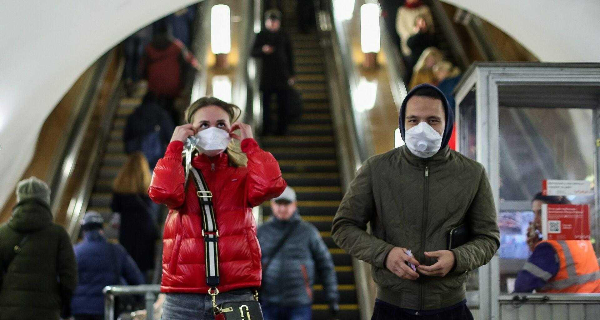 Масочный режим с Московском метро