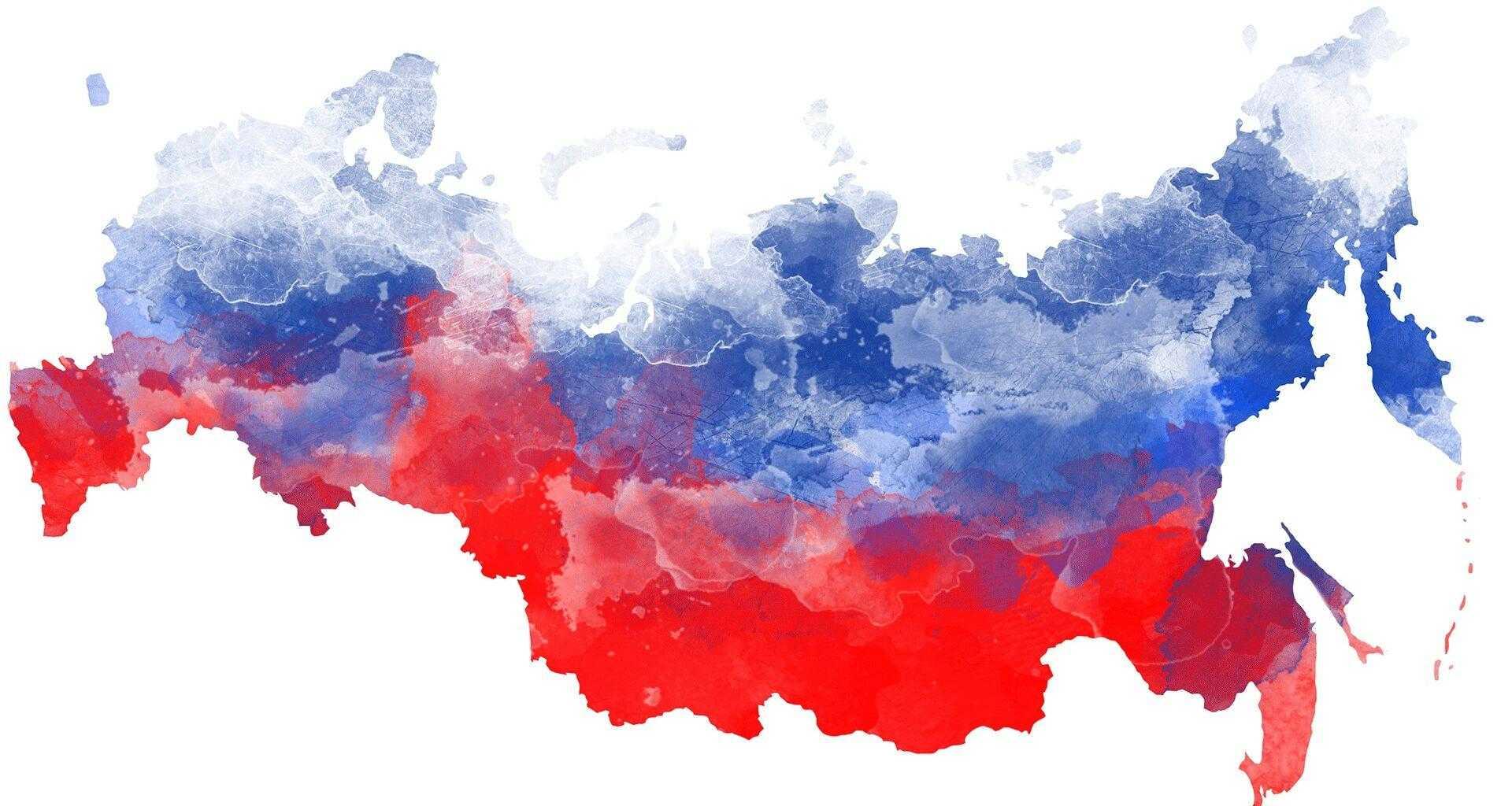 Стилизованная карта России
