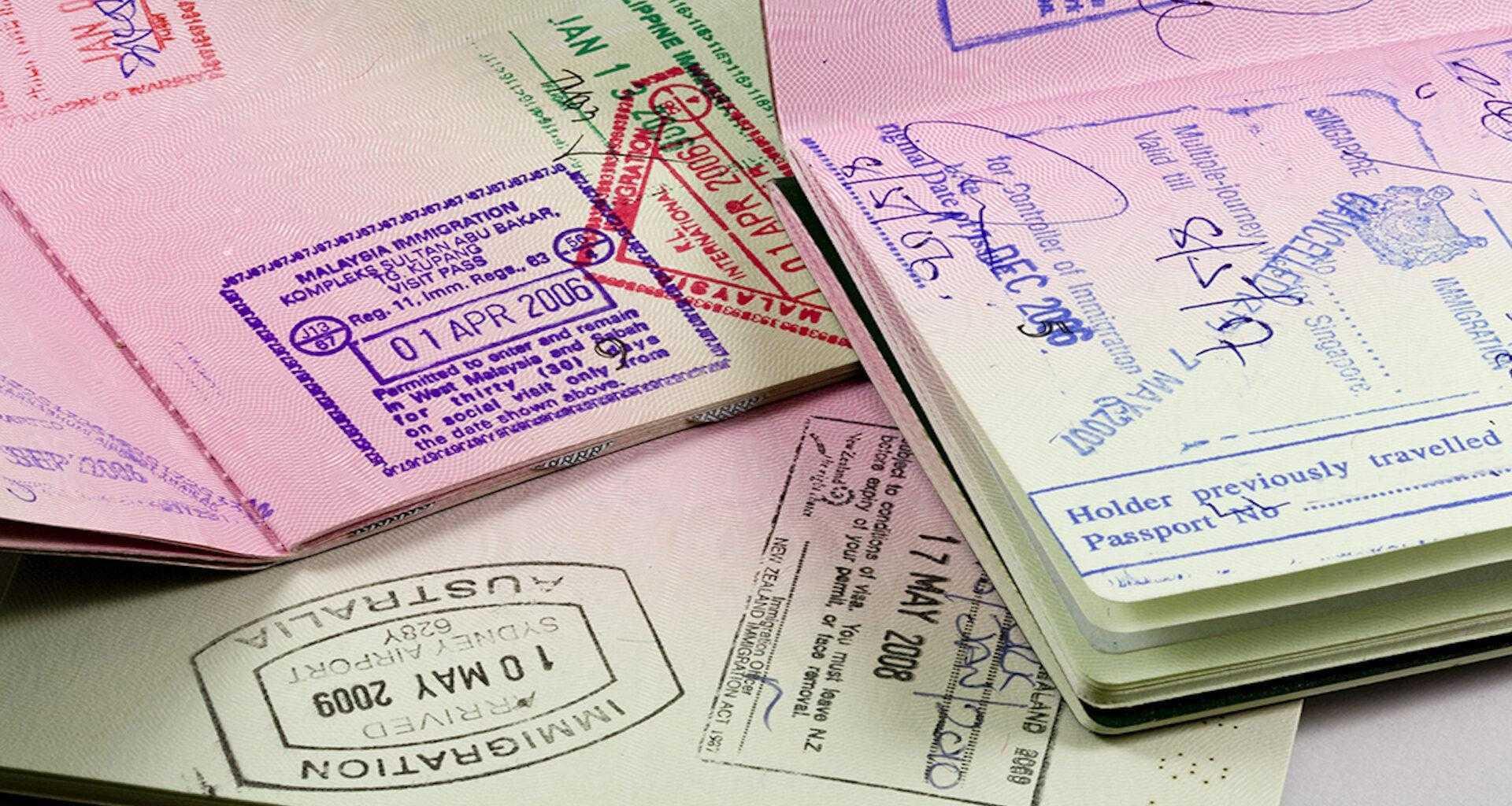паспорта с таможенными штампами